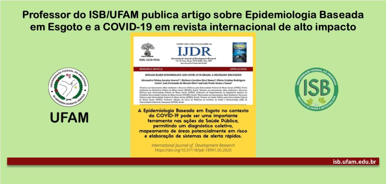 Professor do ISB/UFAM publica artigo sobre Epidemiologia Baseada em Esgoto e a COVID-19 em revista internacional de alto impacto