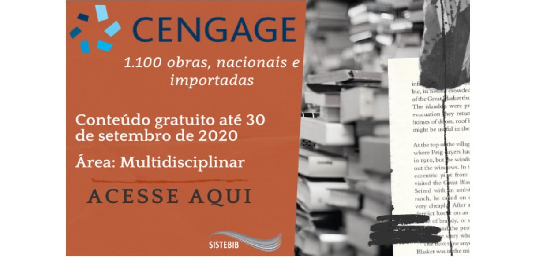 Liberação do acesso gratuito à Biblioteca Digital Cengage