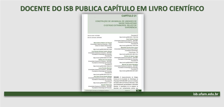 Docente do ISB publica capítulo em livro científico